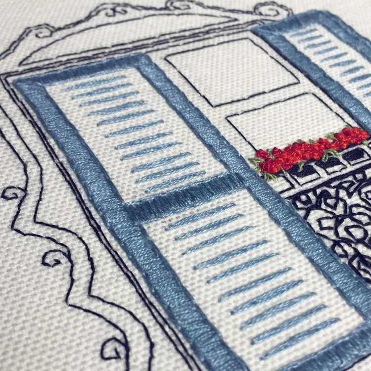 Beginner hand embroidery design