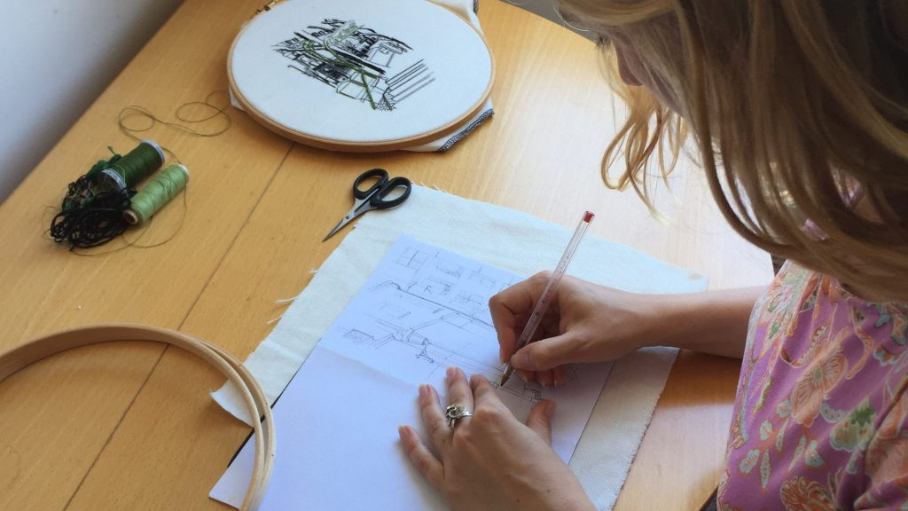 transfer an embroidery pattern to fabric