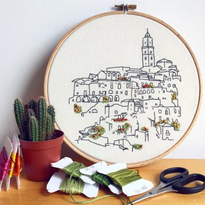 Italian embroidery pattern