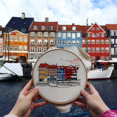 Threadpainting design Nyhavn Copenhagen