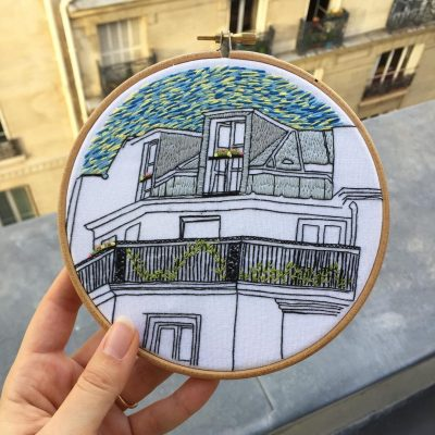 Rue du bac embroidery design