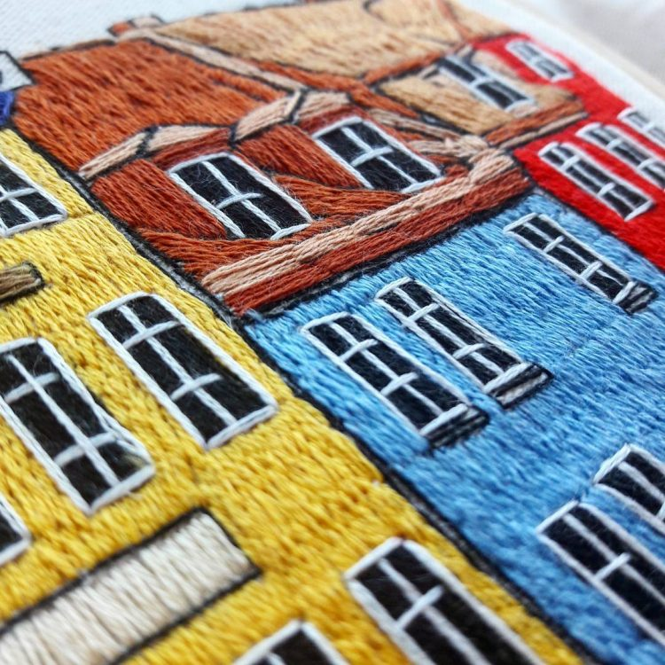 Detailed threadpainting artwork