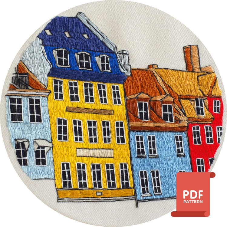Copenhagen embroidery design