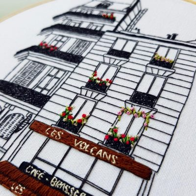 Paris hand embroidery pattern by Charles and Elin