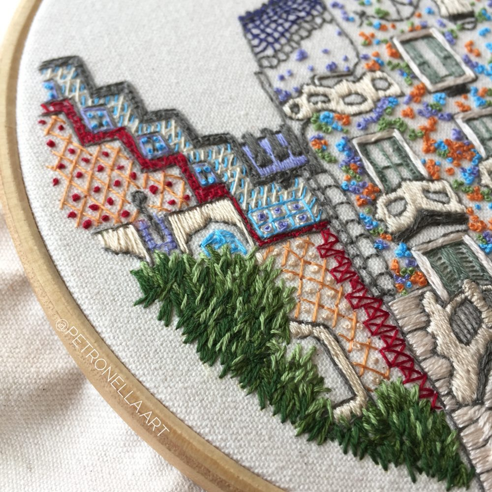 Detailed embroidery sampler