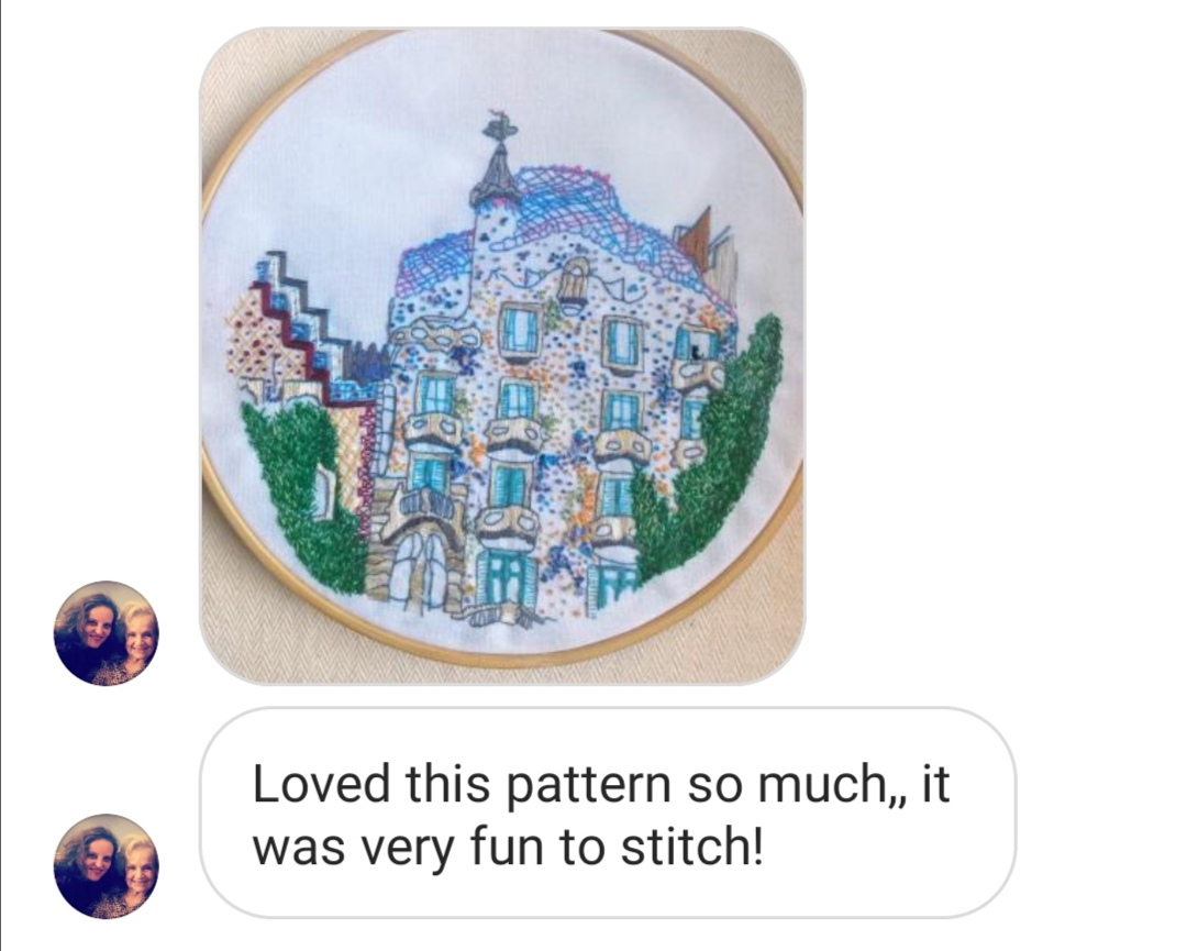 testimonial Charles and Elin embroidery pattern