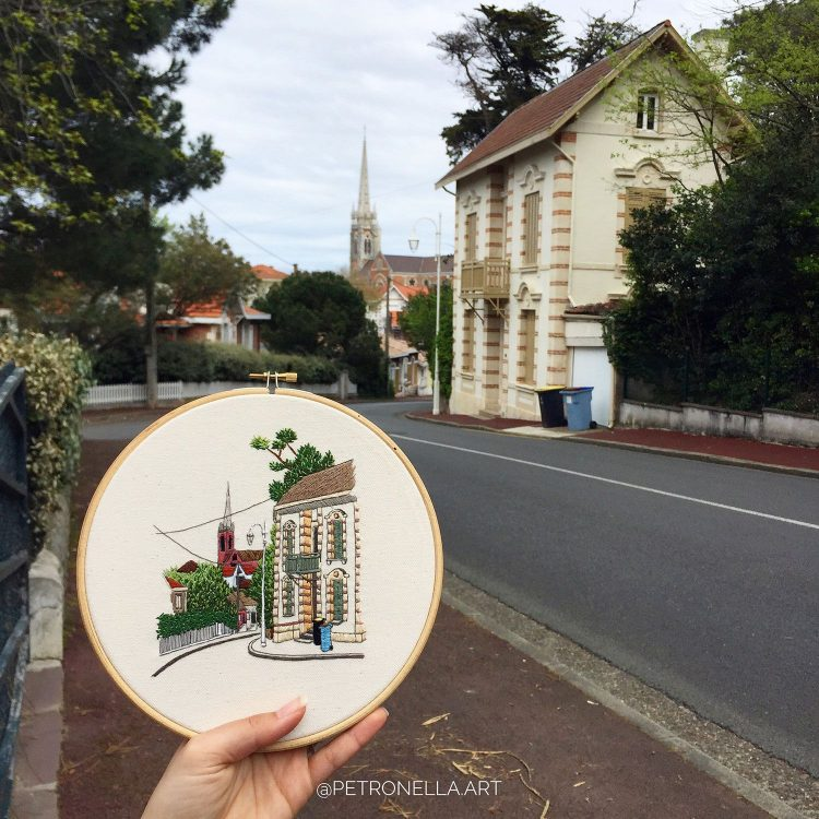 Arcachon hand embroidery design