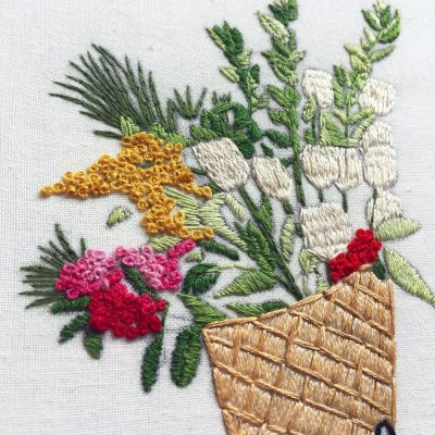 Flower design for embroidery