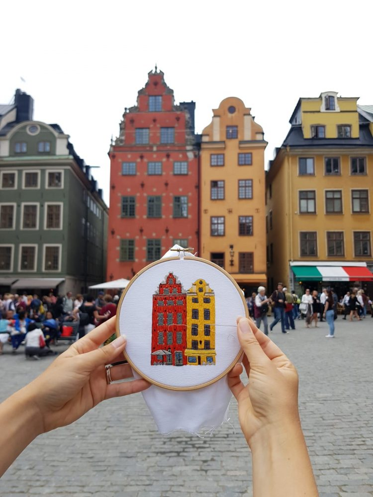 Stockholm embroidery design