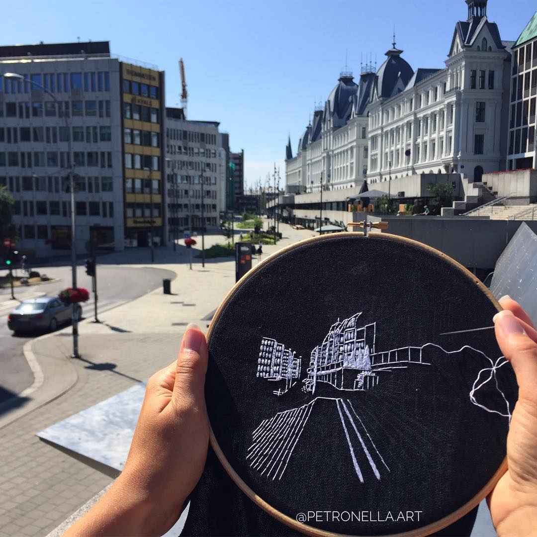Oslo Norway Embroidery Pattern (hand embroidery)
