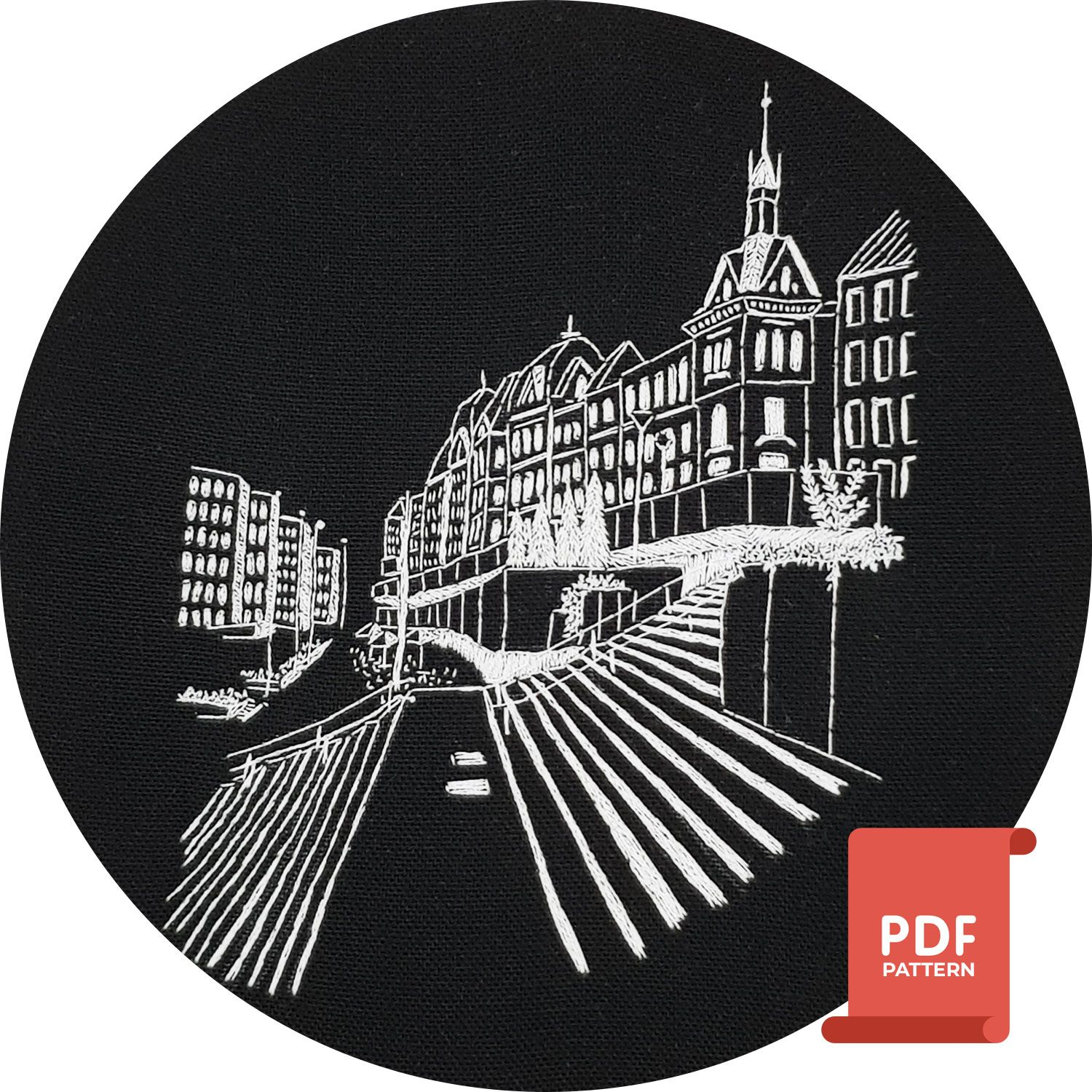 Oslo Norway embroidery pattern