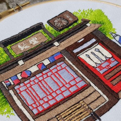 Japan inspired threadpainting pattern