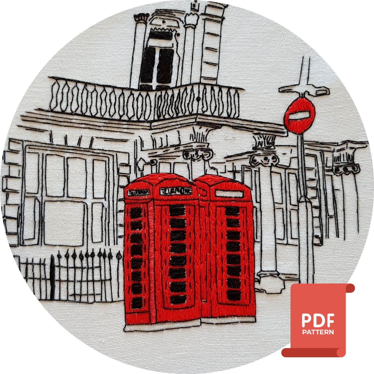 London embroidery design