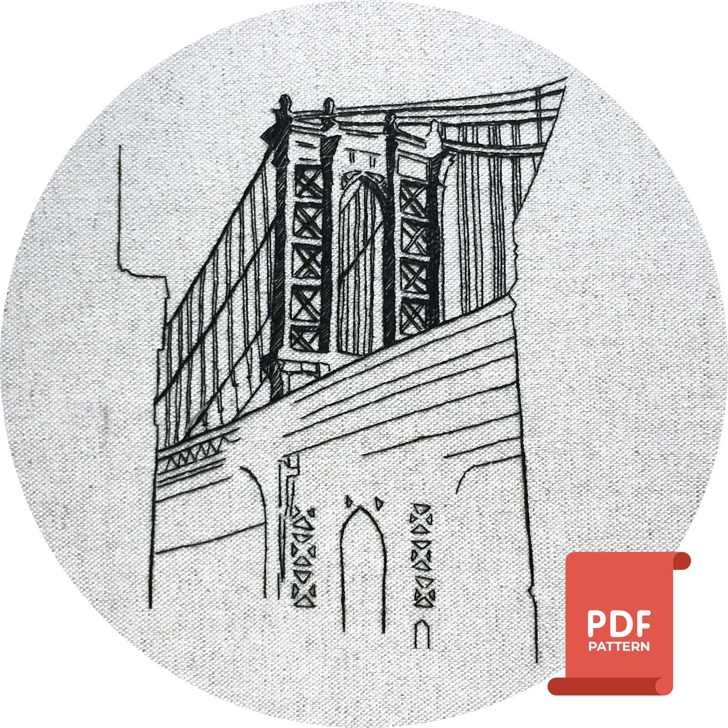 Embroidery Pattern Manhattan New York