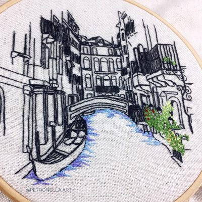 hand embroidery design Venice