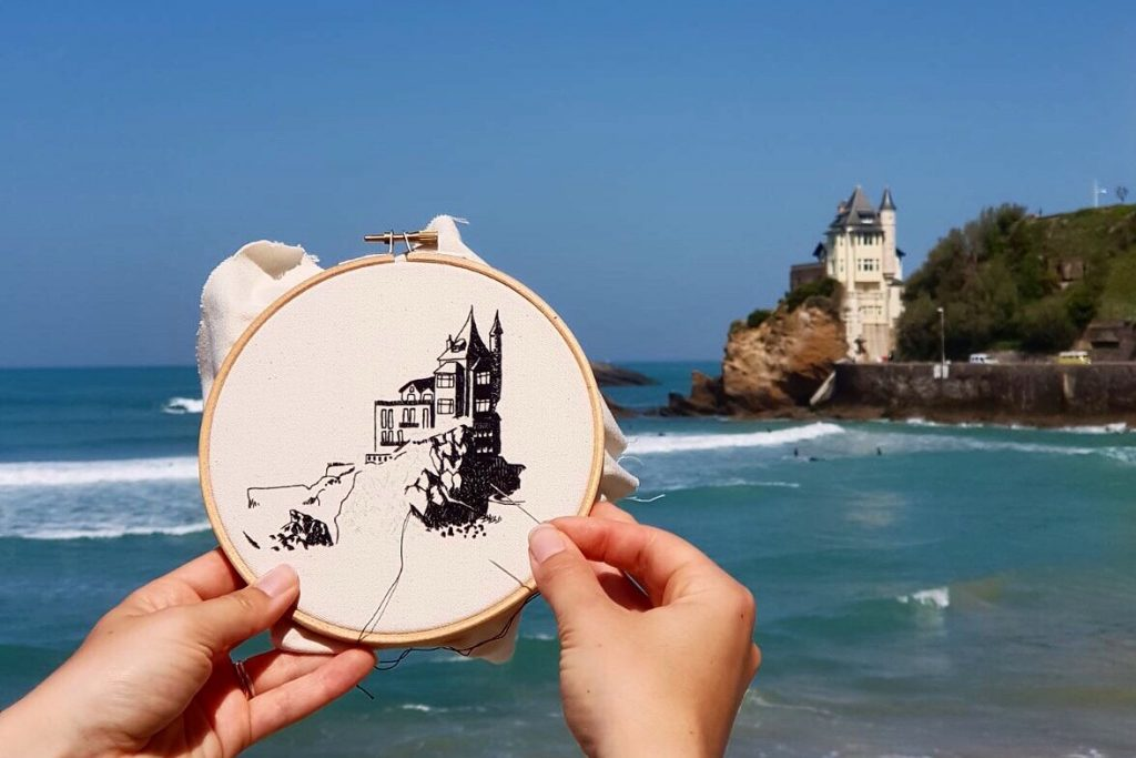 Biarritz hand embroidery design