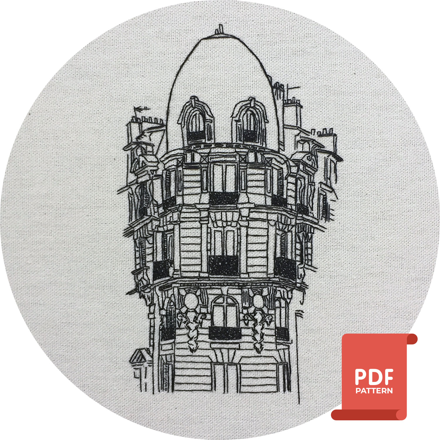 advanced embroidery pattern of Daumesnil, Paris