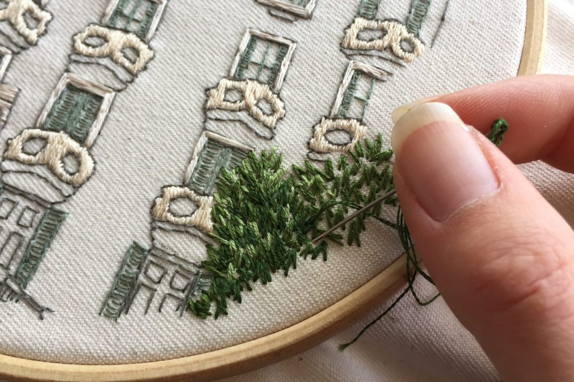 how to start embroidery