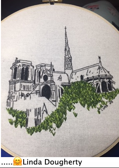 Testimonial embroidery of Charles and Elin pattern
