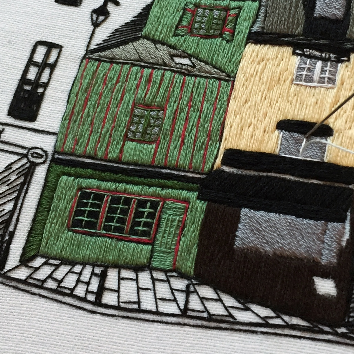 How to embroider window frames