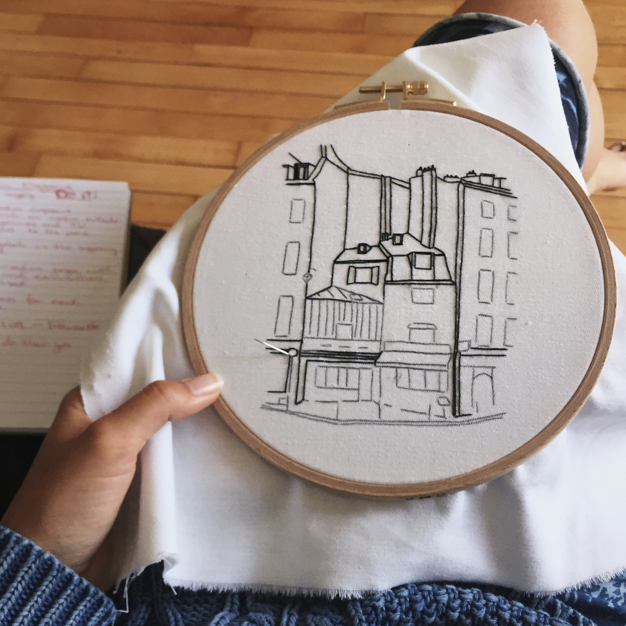 How to embroider backstitch