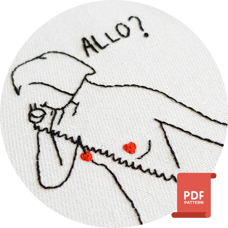 Small embroidery pattern for clothes