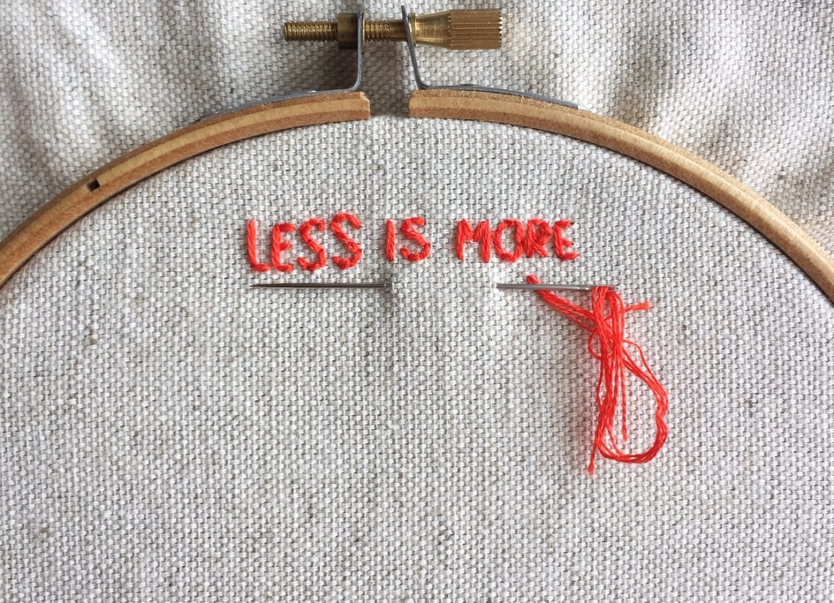 less is more for embroidery stitches