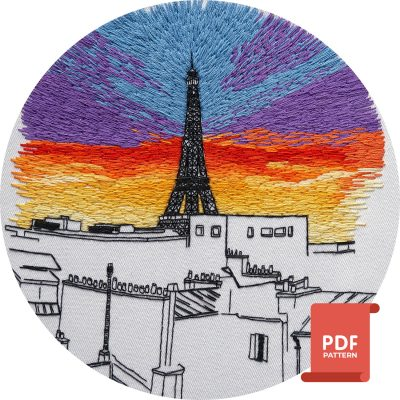 Eiffel Tower embroidery pattern pdf