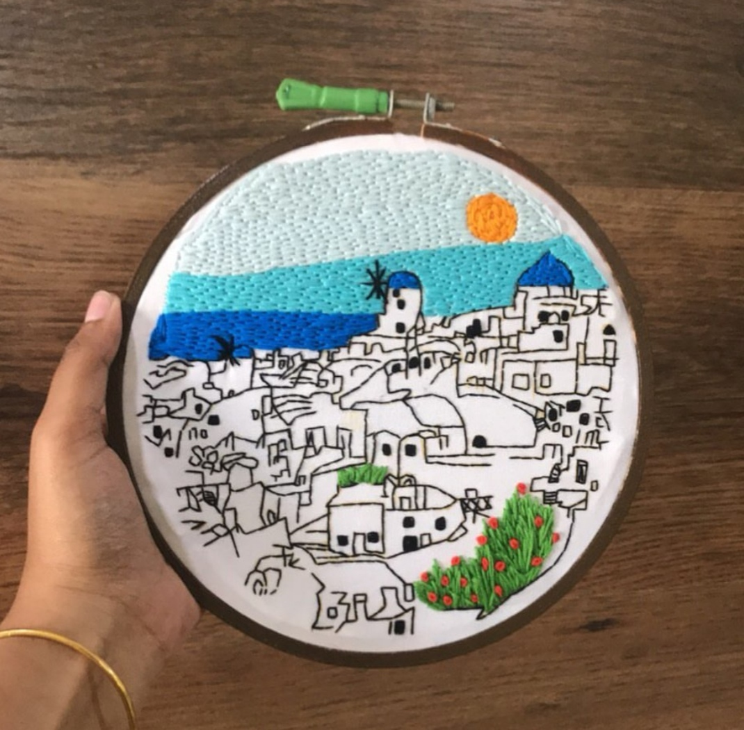 Student work on Santorini pattern by Charles and Elin
