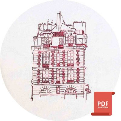 Place Dauphine Embroidery Pattern