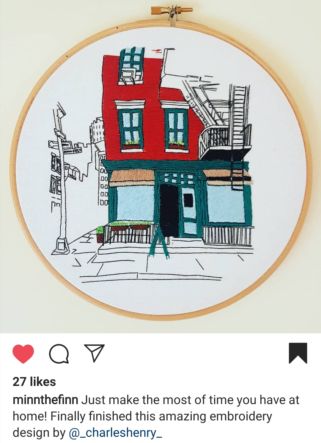 Student work on Charles and Elin NYC Pattern