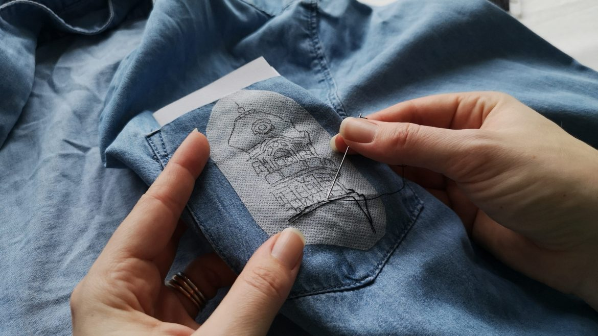 Upcycle your denim shirt with hand embroidery