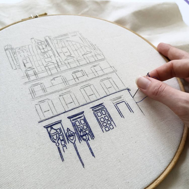 Hand embroidery process