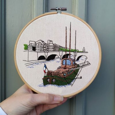 La Seine embroidery pattern by Charles and Elin