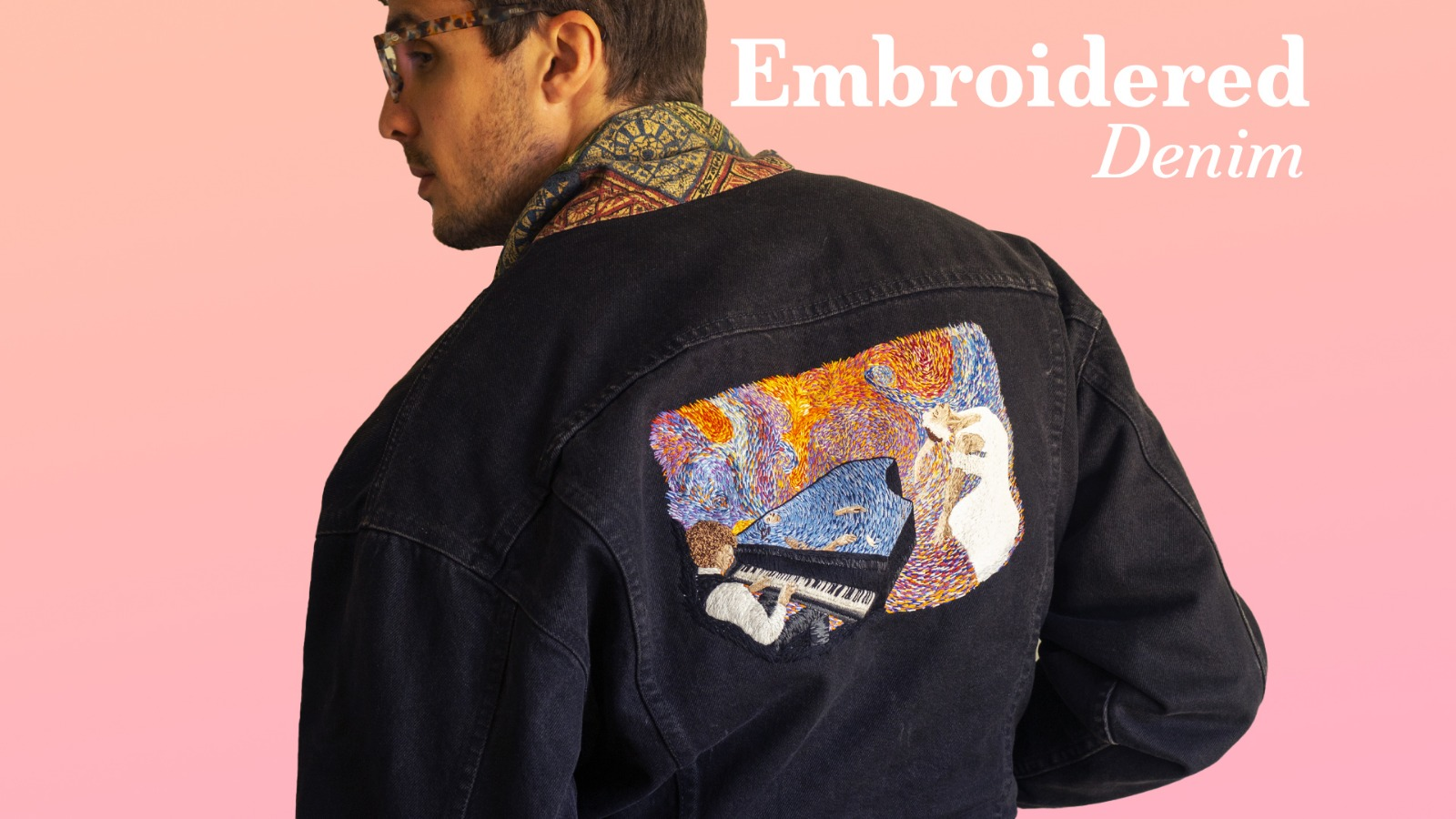 wearable art with embroidered patch
