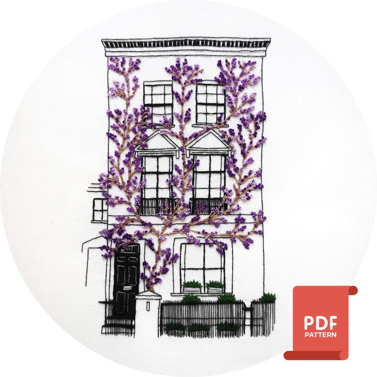 Embroidery Pattern of South Kensington, London