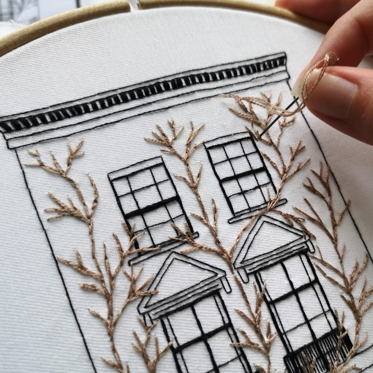 Architectural embroidery process
