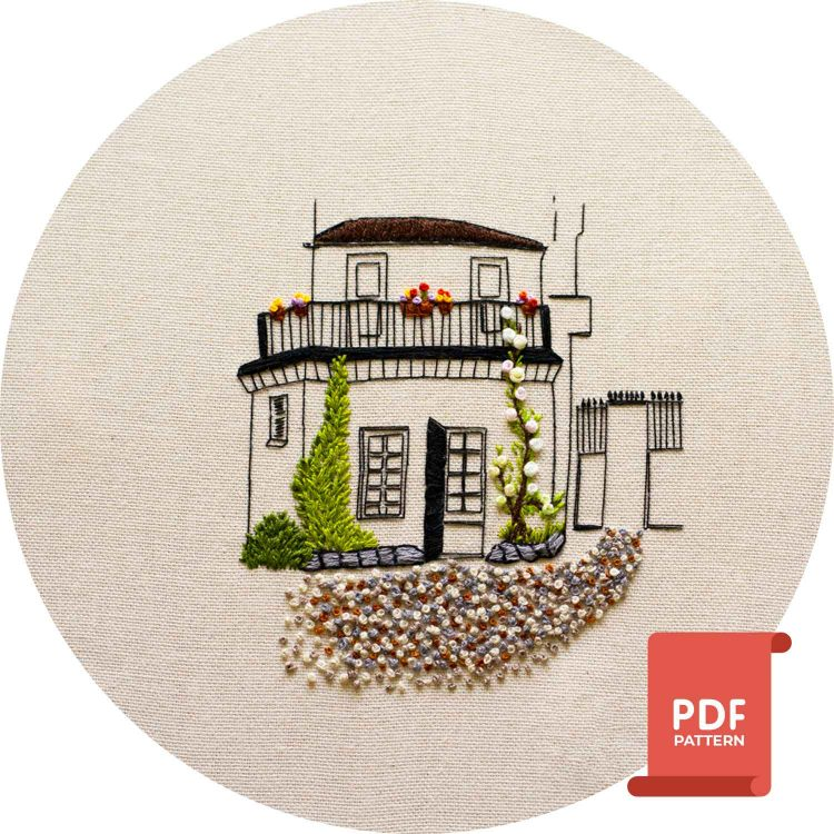 Backyard Saint Germain Paris Embroidery Design