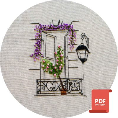 Parisian Window Embroidery Pattern