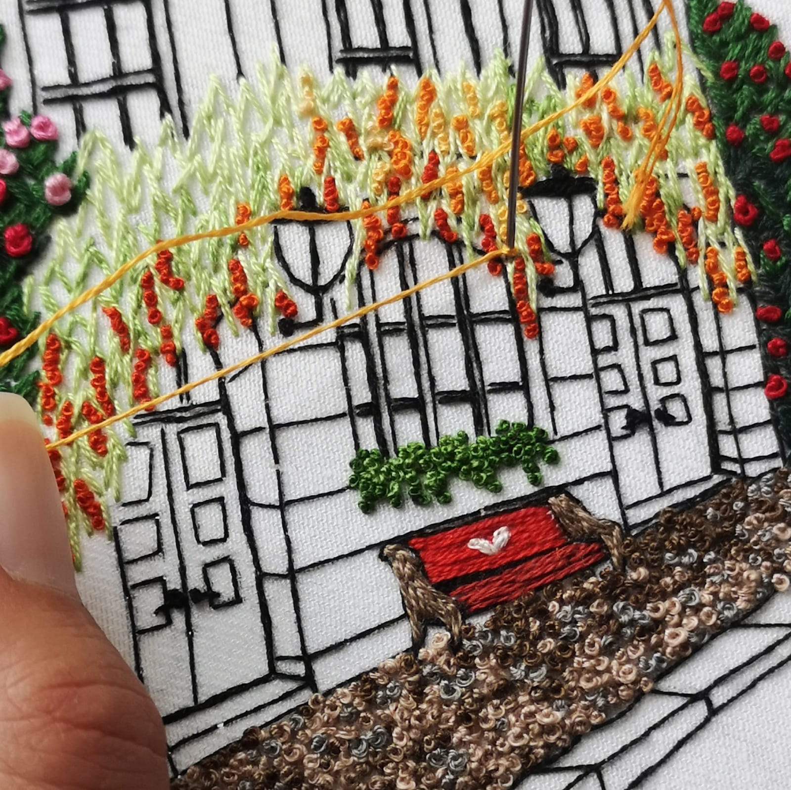 Summer Dream House Embroidery Pattern