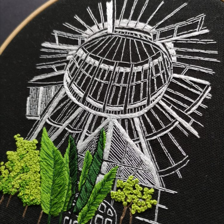Garden House Ceiling embroidery pattern