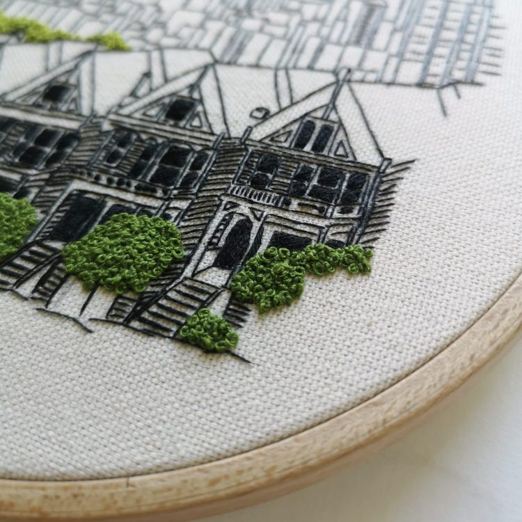 San Francisco embroidery pattern