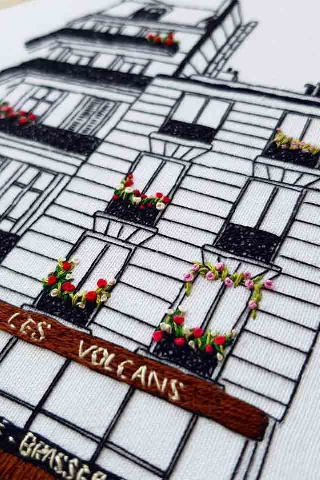 Hand Embroidery Designs of Les Volcans