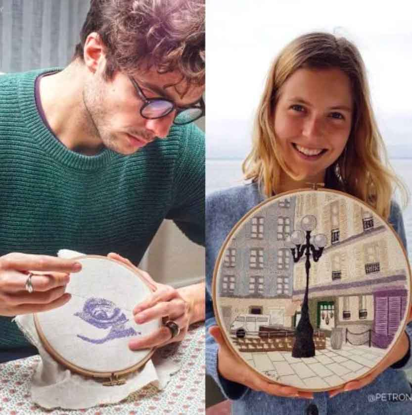Charles and Elin Embroidery Artists